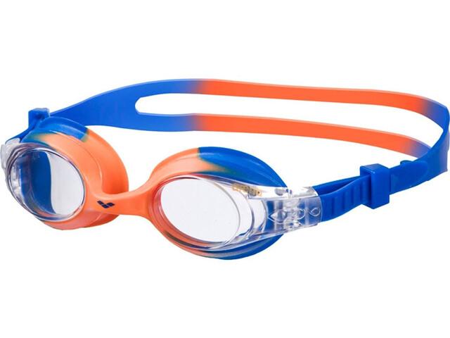 arena X-Lite Lunettes de protection Enfant, blue orange/clear
